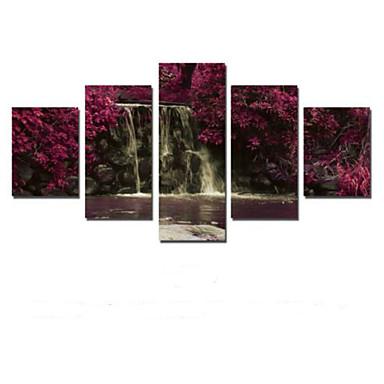 Kunstdrucke Landschaft Ländlich,Fünf Panele Horizontal Druck-Kunst Wand Dekoration For Haus Dekoration