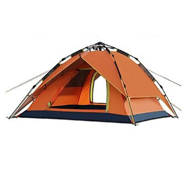 CAMEL 3-4 osoby Stříška Dvojitý Camping Tent jeden pokoj automatický stan Odolné vůči dešti pro Kempink cestování CM