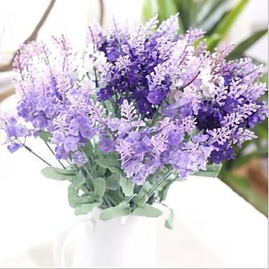 Flores artificiais 1 Ramo Estilo Europeu Lavanda Flor de Mesa