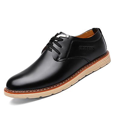 Homens sapatos Couro Ecológico Primavera Outono Tênis Caminhada Combinação para Preto Marron Azul