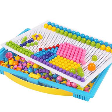 Mosaicos Quebra-cabeças Brinquedo Educativo Circular Cogumelo Colorido Natal Aniversário Kits de mosaico Crianças Dom