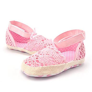 Lasten kengät Personoidut materiaalit Kesä Sandaalit Kukkakuvio Reikäkuvio varten Valkoinen Pinkki