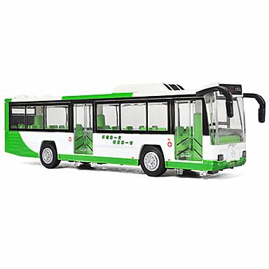 Carros de Brinquedo Brinquedos Ônibus Brinquedos Decoração de mesa Música e luz Ônibus Liga de Metal 1 Peças Crianças Unisexo Aniversário