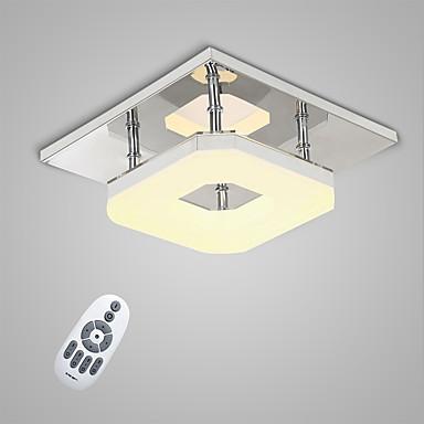 Montagem do Fluxo Luz Ambiente Galvanizar Metal LED 90-240V Branco Quente / Branco / Dimmable Com Controle Remoto Fonte de luz LED incluída / Led Integrado