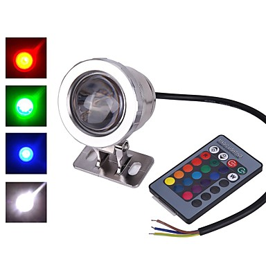 1pc 10 W Underwater Lights Waterproof / Remote Controlled / Decorative RGB 12 V Outdoor Lighting / Courtyard / Garden 1 LED Beads