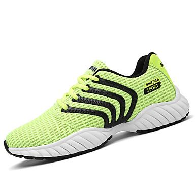Homens sapatos Couro Ecológico Tule Primavera Verão Casual Fashion Tênis Cadarço para Diário Esportes Roupas para Lazer Preto Cinzento
