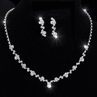 Pentru femei Cristal Șuviță unică Set bijuterii - Design Unic, Clasic, Ciucure Include Argintiu Pentru Nuntă / Petrecere / Ocazie specială / Aniversare / Zi de Naștere