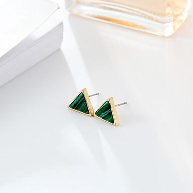 Mulheres Esmeralda Sintética Esmeralda Brincos Curtos - Fashion / Estilo simples Verde / Verde Escuro Redonda / Triângulo Brincos Para