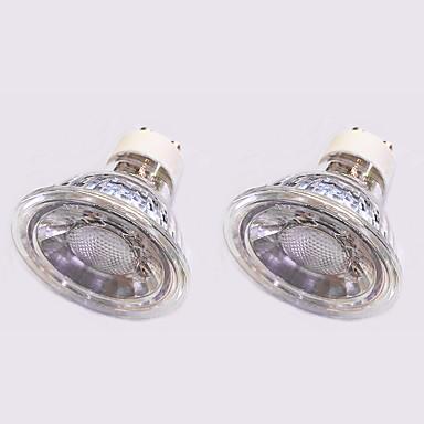 5W 420 lm GU10 LED-kohdevalaisimet 1 ledit COB Lämmin valkoinen Valkoinen