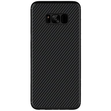 Capinha Para Samsung Galaxy S8 Plus S8 Ultra-Fina Estampada Capa traseira Côr Sólida Rígida Fibra de carbono para S8 Plus S8 S7 edge S7