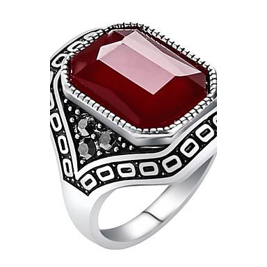 Mulheres Resina Liga Anel Anel de declaração - Redonda Forma Geométrica Personalizada Luxo Original Vintage Importante Euramerican Fashion