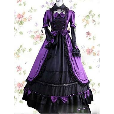 Viktorianisch Kostüm Damen Kleid / Party Kostüme / Maskerade Vintage Cosplay Satin / Other Kurzarm Kappe Boden-Länge