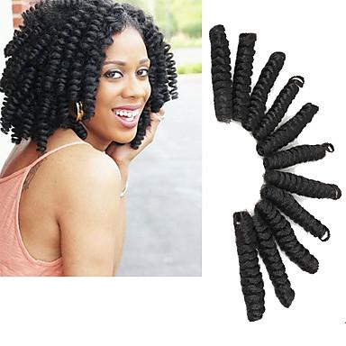 Cabelo para Trançar Encaracolado / Glamouroso e Dramático Tranças Encaracoladas 100% cabelo kanekalon / Kanikalon 20 raízes / pacote Tranças de cabelo 100% cabelo kanekalon