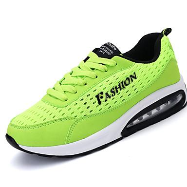 Homens sapatos Tule Primavera / Outono Tênis Corrida Preto / Verde Claro / Azul Real