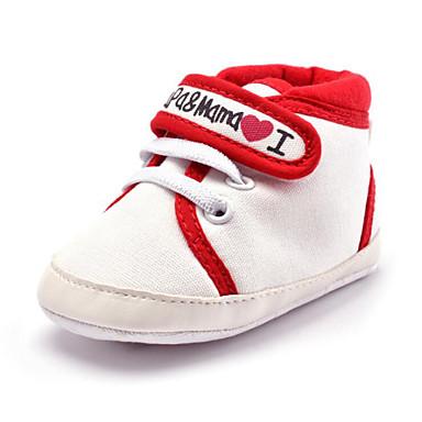 Kinder Baby Schuhe Stoff Kunststoff Winter Herbst Lauflern Loafers & Slip-Ons Klett Elastisch für Normal Party & Festivität Kleid Weiß