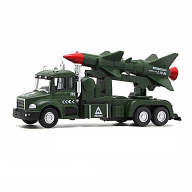 Military Vehicle Toy Truck Construction Vehicle / Toy Car / Model Car 1:32 Music & Light Unisex Kid's Toy Gift