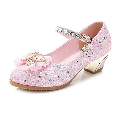 Para Meninas Sapatos Gliter Verão / Outono Conforto / Inovador / Sapatos para Daminhas de Honra Sapatos De Casamento Caminhada Laço /