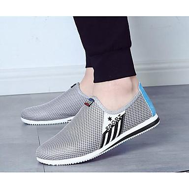 Miehet kengät Hengittävää verkkoa Tyll Kevät Comfort Lenkkitossut Käyttötarkoitus Kausaliteetti Harmaa Laivaston sininen Sininen