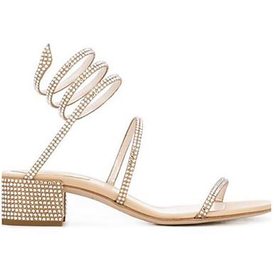 Naiset Kengät PU Kevät Comfort Sandaalit Käyttötarkoitus Kausaliteetti Kulta Musta