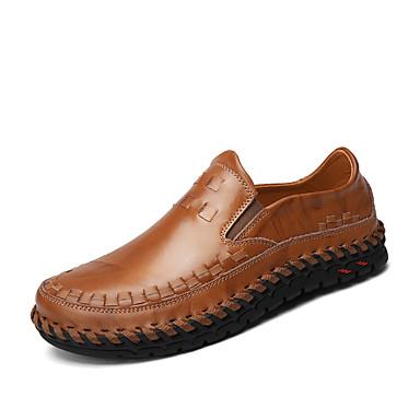 Férfi Komfortos pulóverek Nappa Leather Tavasz / Nyár / Ősz Kényelmes Papucsok & Balerinacipők Gyalogló Fekete / Barna