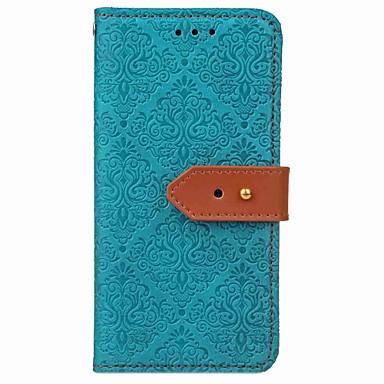 Capinha Para Apple iPhone X iPhone 8 Porta-Cartão Carteira Com Suporte Flip Magnética Capa Proteção Completa Côr Sólida Rígida PU Leather