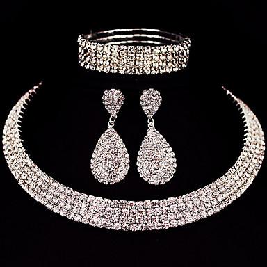 Mulheres Conjunto de jóias - Clássico, Básico Incluir Prata Para Presentes de Natal / Casamento / Festa / Ocasião Especial / Aniversário / Noivado / namorados