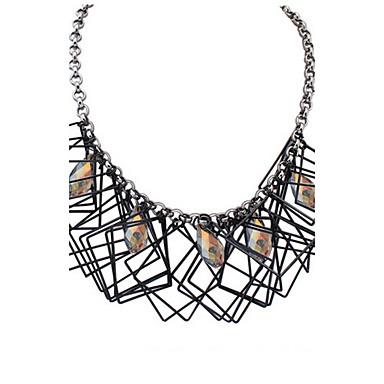 Naisten Riipus-kaulakorut Kaulaketjut Statement kaulakorut Helmi Synteettinen timantti Geometric Shape Korut Lasi Metalliseos