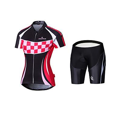Malciklo Damen Fahrradtrikot mit Trägerhosen Fahhrad Gepolsterte Shorts Trikot/Radtrikot Kleidungs-Sets Polyester Lycra