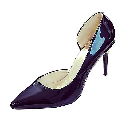 Mulheres Sapatos Courino Verão Outono Saltos Salto Agulha Dedo Fechado Dedo Apontado para Preto Verde Rosa claro
