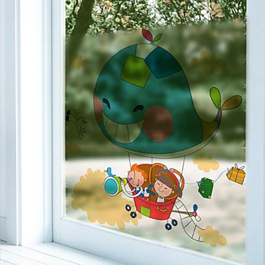 Tierdruck Zeitgenössisch Fenster-Aufkleber,PVC/Vinyl Stoff Fensterdekoration