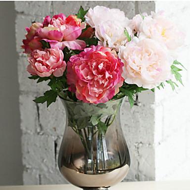 1piece / Set 1 Ast Seide Pfingstrosen Tisch-Blumen Künstliche Blumen