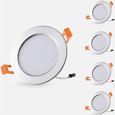 5pcs 5 W 500 lm 10 الخرز LED سهولة التثبيت في فجوة أضواء الراحة أضواء LED أبيض دافئ أبيض كول 85-265 V خزانة سقف المنزل / مكتب / 5 قطع / بنفايات / CE