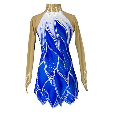 Ice Skating Dress Women's Girls' Skating Skirt Dress High Elasticity Figure Skating Dress Thermal / Warm Handmade Rhinestone Sequined