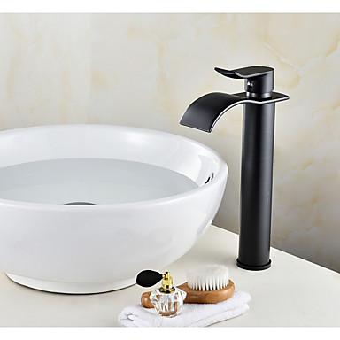 Moderne Mittellage Keramisches Ventil Einhand Ein Loch Öl-riebe Bronze, Waschbecken Wasserhahn