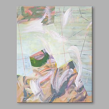 Pintados à mão Abstrato Vertical, Abstracto Moderno/Contemporâneo Tela de pintura Pintura a Óleo Decoração para casa 1 Painel
