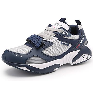 Homens sapatos Couro Ecológico Primavera Outono Conforto Tênis para Casual Branco Preto Azul