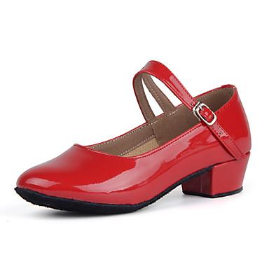 povoljno Dječje cipele za ples-Žene Lakirana koža Moderna obuća Štikle Niska potpetica Moguće personalizirati Crn / Pink / Crvena / Vježbanje / EU39