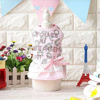 Hund Kleider Hundekleidung Lässig/Alltäglich Modisch Schleife Gelb Rosa Kostüm Für Haustiere