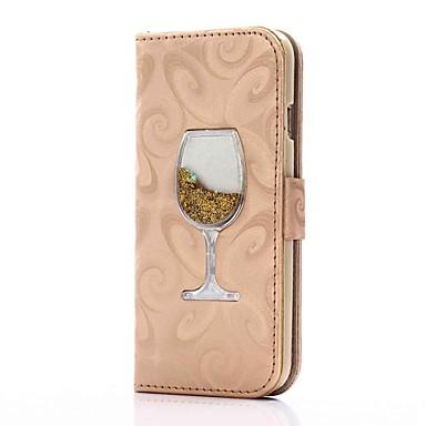 Capinha Para Apple iPhone 8 iPhone 8 Plus Porta-Cartão Carteira Com Suporte Liquido Flutuante Flip Magnética Capa Proteção Completa