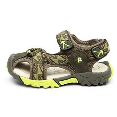 Poikien kengät Mokkanahka PU Kevät Syksy Ensikengät Sandaalit Kävely Tarranauhalla varten Kausaliteetti Vaalean keltainen Armeijan vihreä