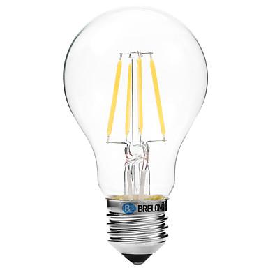 BRELONG® 1kpl 4W 300lm lm E27 LED-hehkulamput A60(A19) 4pcs ledit COB Lämmin valkoinen Valkoinen 200-240V