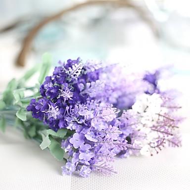 1 Ast Polyester Lavendel Tisch-Blumen Künstliche Blumen