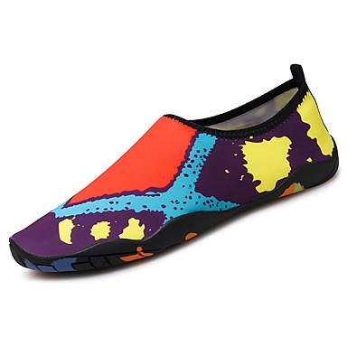 Mulheres Sapatos Couro Ecológico Primavera Outono Conforto Tênis Sem Salto para Casual Preto Vermelho Azul