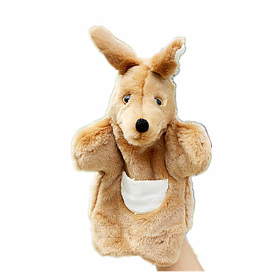 Fantoches de dedo Bonecas Brinquedos Rabbit Canguru Animal Animais Tecido Felpudo Crianças Dom