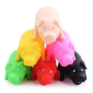 Hundespielzeug Haustierspielsachen Kau-Spielzeug Interaktives quietschen Schwein