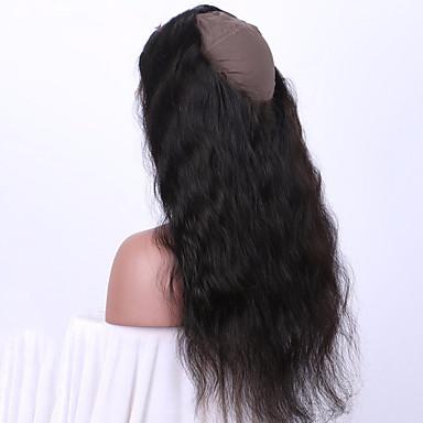 povoljno Postavljanje ekstenzija-Brazilska kosa 360 Frontalni Wavy / Tijelo Wave / Klasika Besplatno dio / Središnji dio Švicarska čipka Remy kosa Dnevno