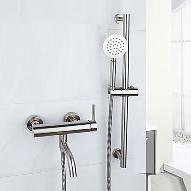 Bathtub Faucet - Contemporary Brushed Tub And Shower Ceramic Valve
