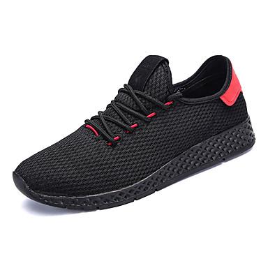 Homens sapatos Tule Verão Outono Solados com Luzes Conforto Tênis Caminhada Cadarço para Casual Branco Preto Vermelho