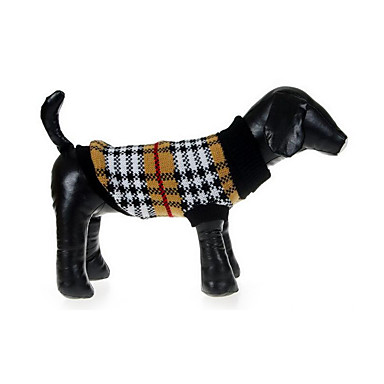 Cachorro Súeters Roupas para Cães Casual Xadrez Ocasiões Especiais Para animais de estimação