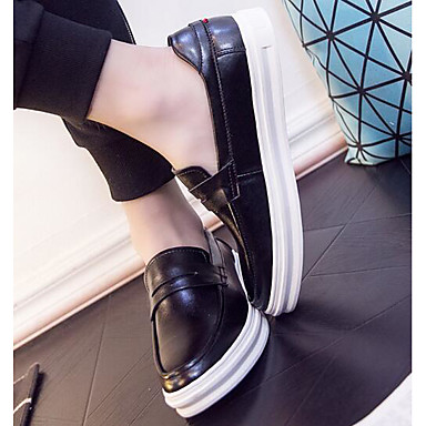 Herren Schuhe PU Frühling Komfort Loafers & Slip-Ons Für Normal Schwarz Braun